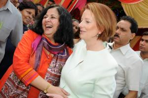 Hon Julia Gillard Australian Prime Minister visits Asha