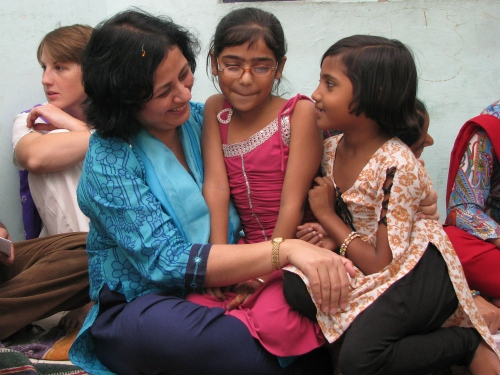 Dr Kiran with Children