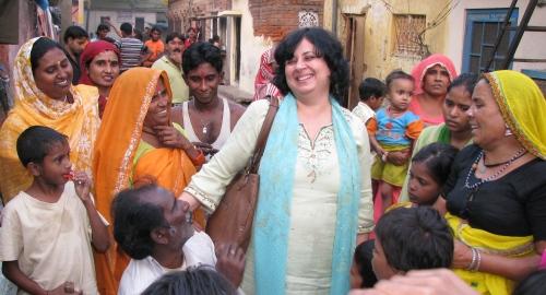 Dr Kiran in a slum