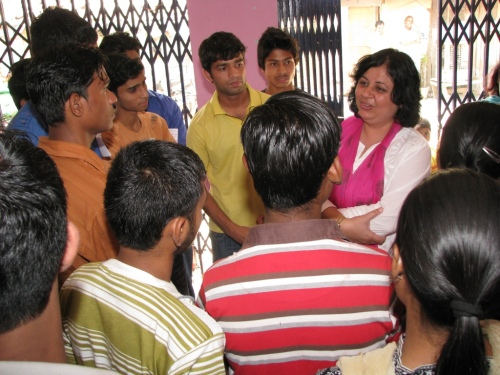 Dr Kiran with students