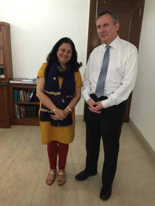 Dr. Kiran with HE Brian McElduff, Irish Embassy